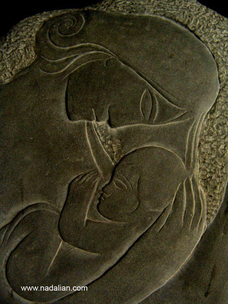 مادر و کودک ، حجاری احمد نادعلیان