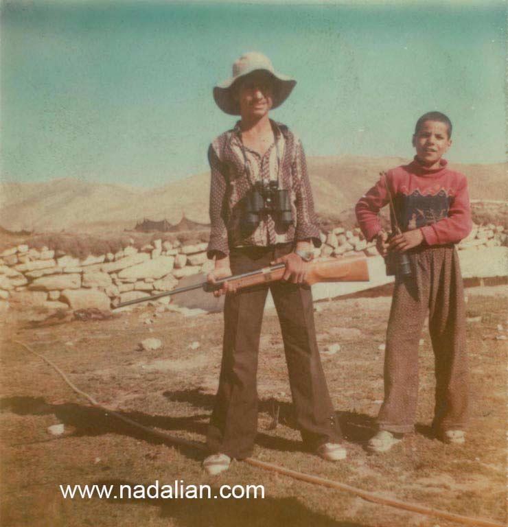 احمد نادعلیان در ییلاق وِردل نزدیک کَلک ساون