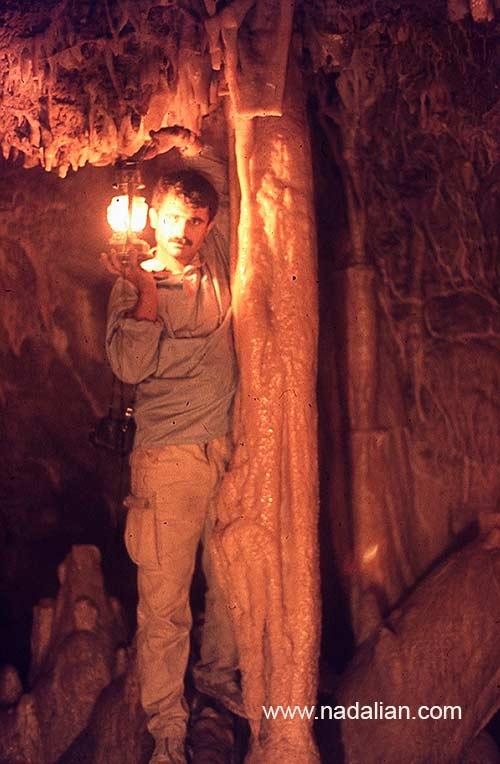 احمد نادعلیان در غار ییلاق گل زرد