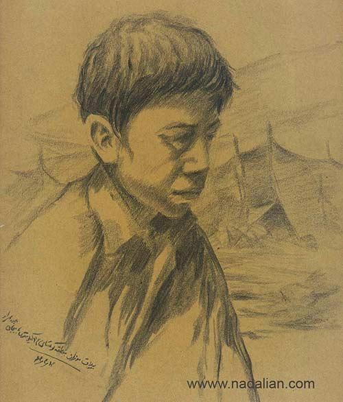 """طراحی از یک پسر در ییلاق سنگسری """"مُوزون"""""""