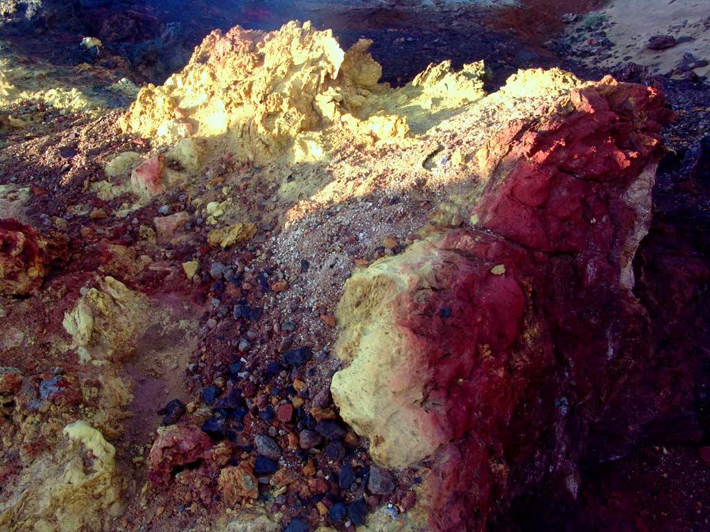 Hormuz Island colorful rocks