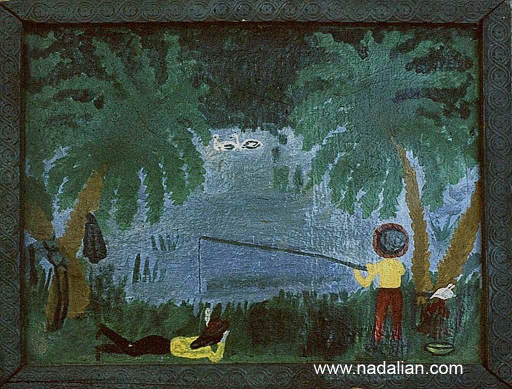 اولین نقاشی رنگ و روغن احمد ادعلیان