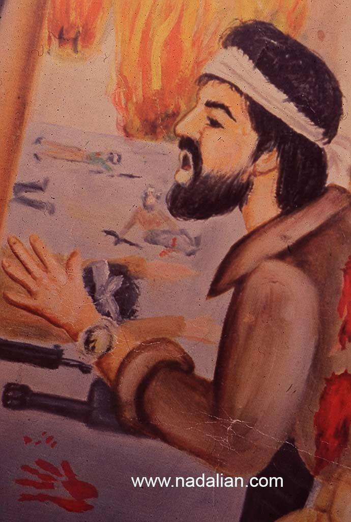 نقاشی احمد نادعلیان در سال 1357