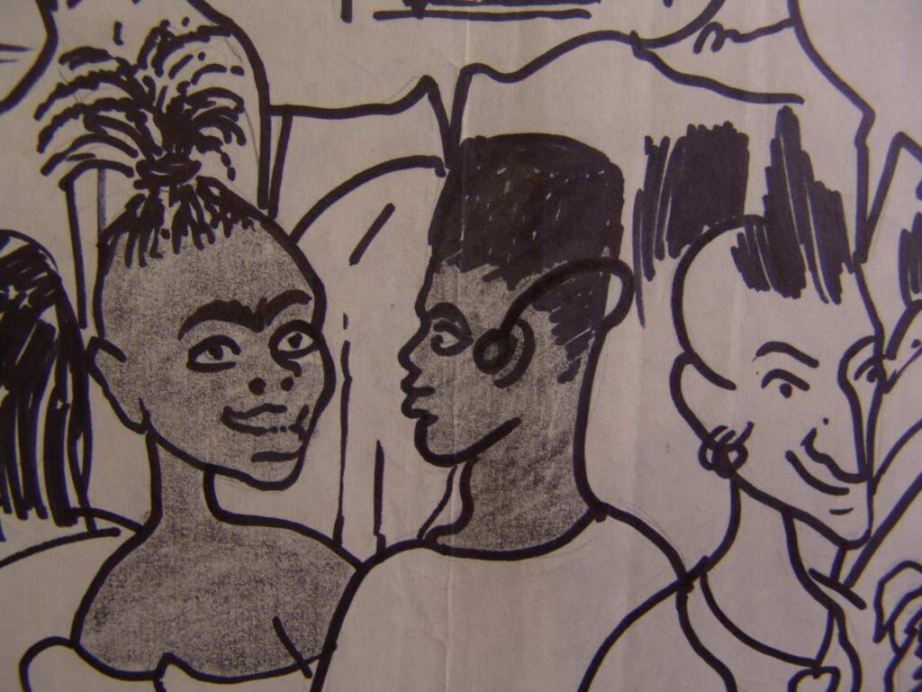 طراحی طنز احمد نادعلیان در فرانسه
