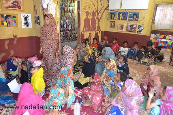 Children participated in Free Education, Dr. Ahmad Nadalian Museum, Hormuz Island