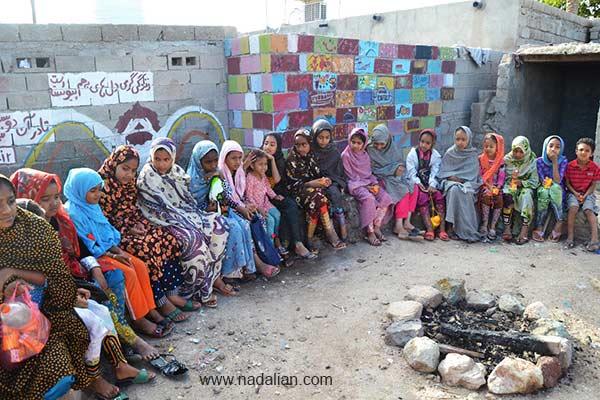 Children participated in Free Education, workshop environmental near Dr. Ahmad Nadalian Museum, Hormuz Island