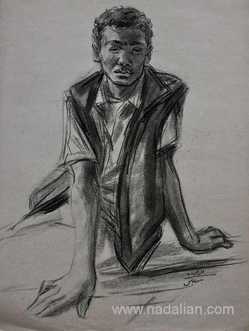 طراحی از یک پسر، احمد نادعلیان، بندر عباس