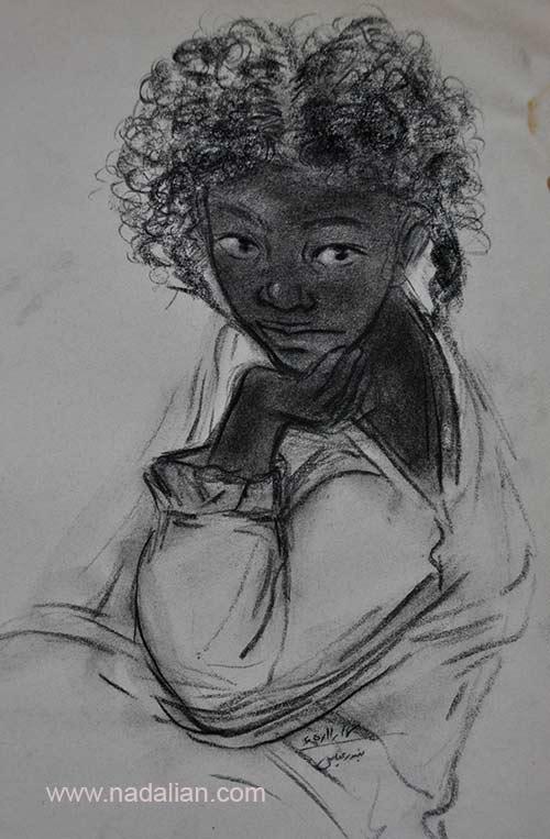 طراحی از یک دختر، احمد نادعلیان، بندر عباس