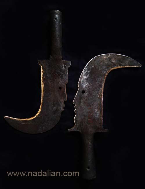 مردهای خشن - از مجسمه های آهنی احمد نادعلیان، کارهای مشترک با آهنگردهای دوره گرد