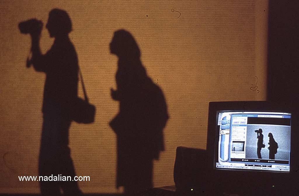 """01"" Interactive Online Video Installation by Ahmad Nadalian New Art exhibition in 2002 Tehran Contemporary Art Museum"