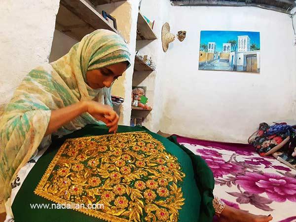 Local artist from Hormozgan, Dr. Ahmad Nadalian House in Laft Qeshm Island
