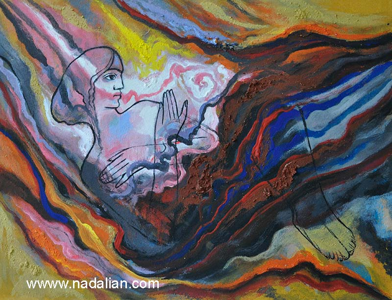 Wounded Mother Earth: Ahmad Nadalian's Paintings with Stone Powder, Soil and Colored Powders