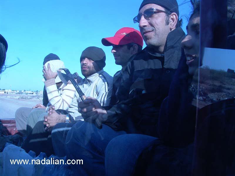 در مسیر برداشت خاک، ... ، محمد سایبانی، ... ، محمد بانوج، احمد کارگران- 13 دیماه 1385