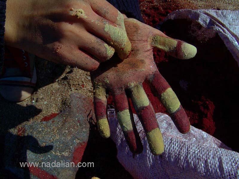 اثر هنر بدن با خاک رنگی - جزیره هرمز -13 دیماه 1385
