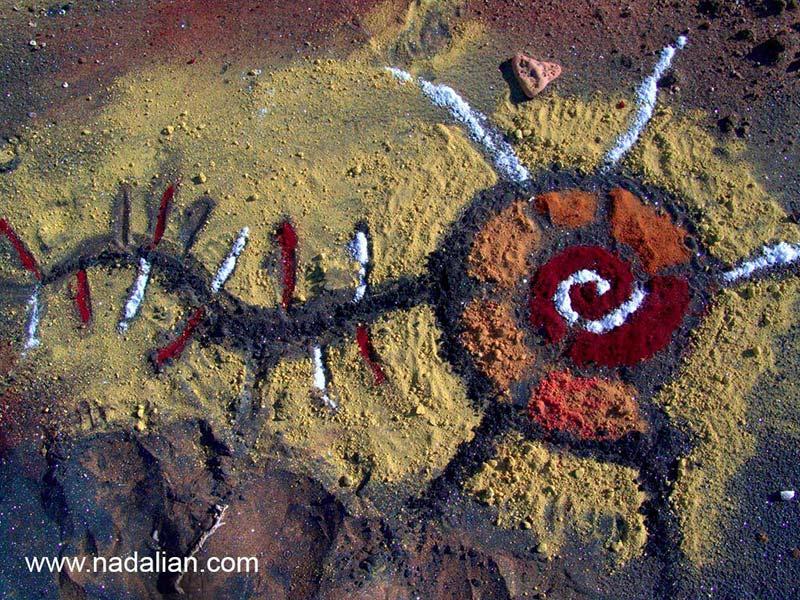 اثر هنر محیطی با خاک رنگی - جزیره هرمز -13 دیماه 1385