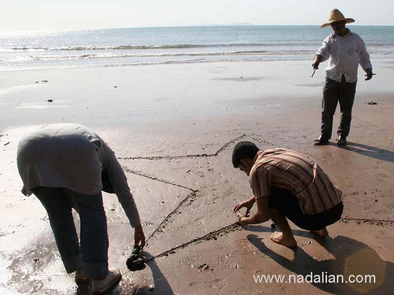 طراحی ستاره در کنار کار سنگ توشته خلیج فارس به انگلیسی (Persian Gulf)