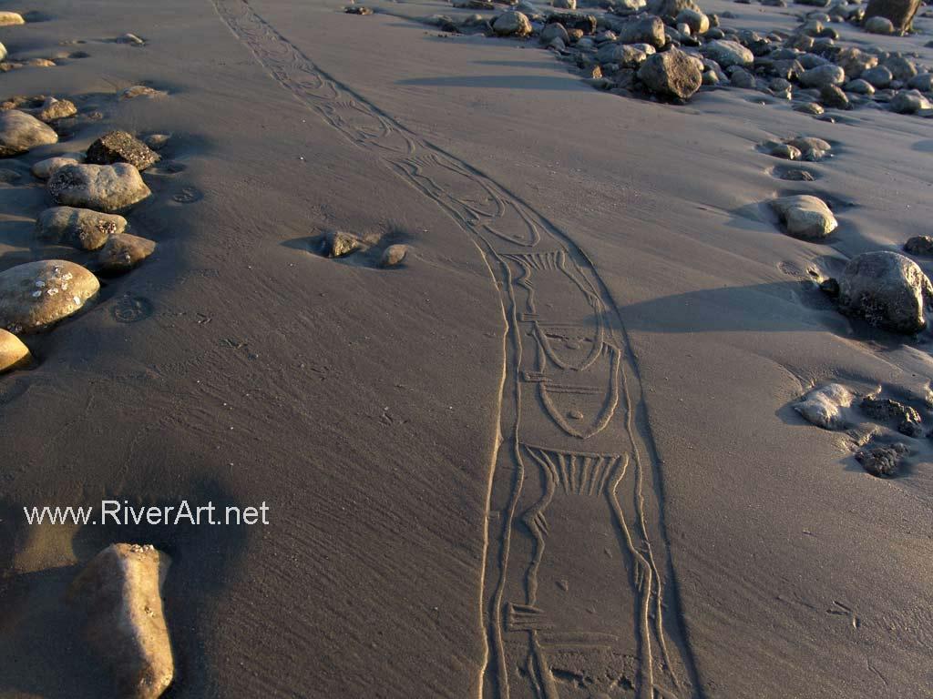 چاپ نقش ماهی با مهر استوانه ای، احمد نادعلیان، بندر عباس، صبح روز 15 دیماه 1385