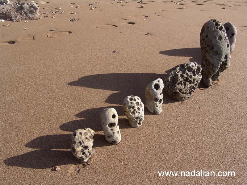 چیدمان با سنگ، جزیره هرمز